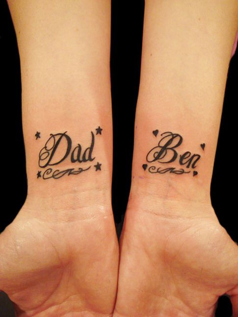 Example Of A Simple Lettering Tattoo Design Tattoos Pinterest