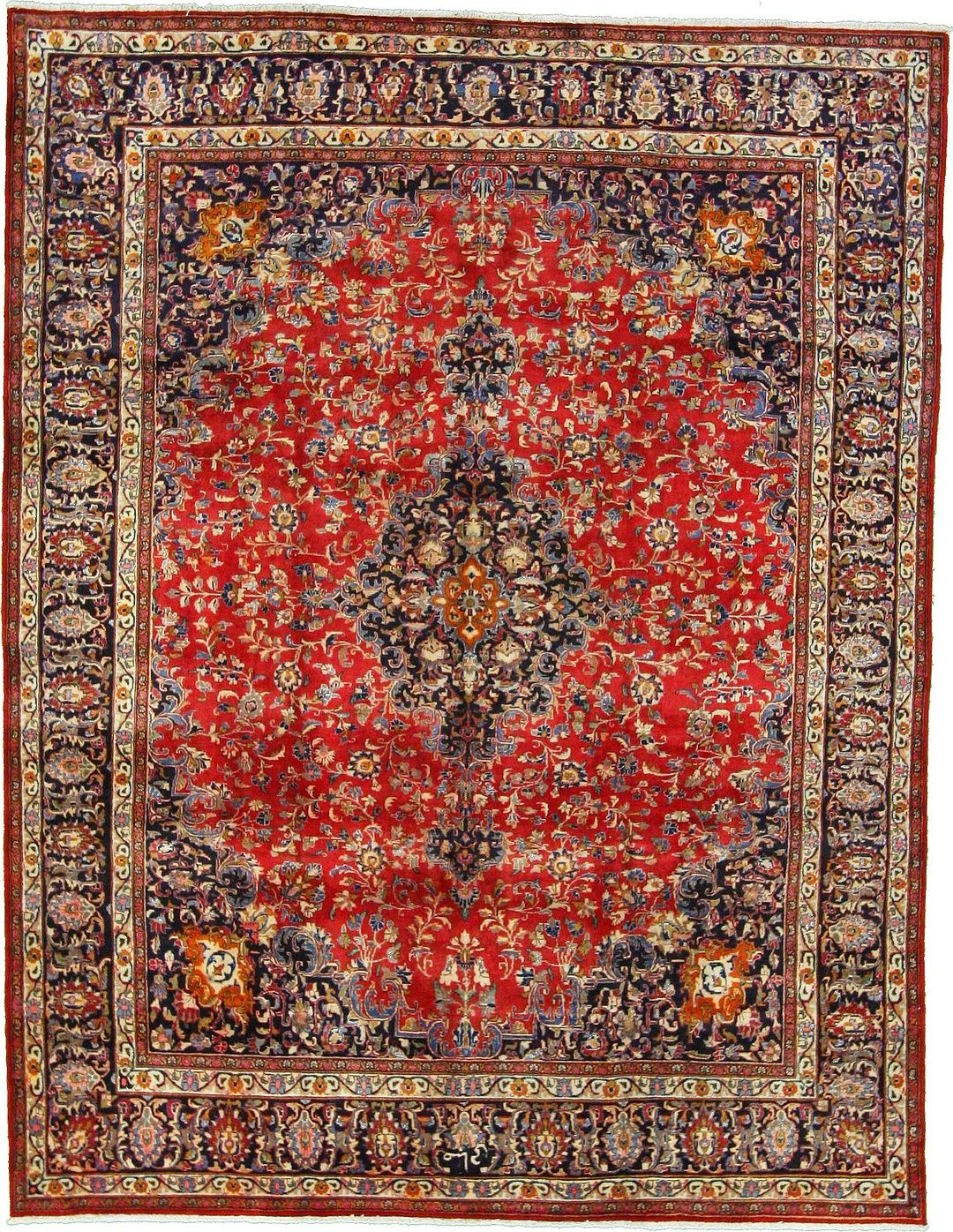 Red 9' 8 x 12' 5 Mashad Rug | Persian Rugs | eSaleRugs