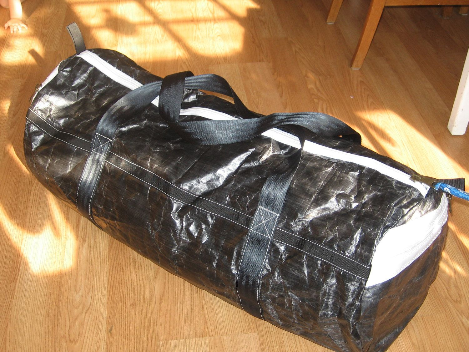 Carbon Cuben FIber duffel bag. not easy to find this cloth, but it's apparently the best...