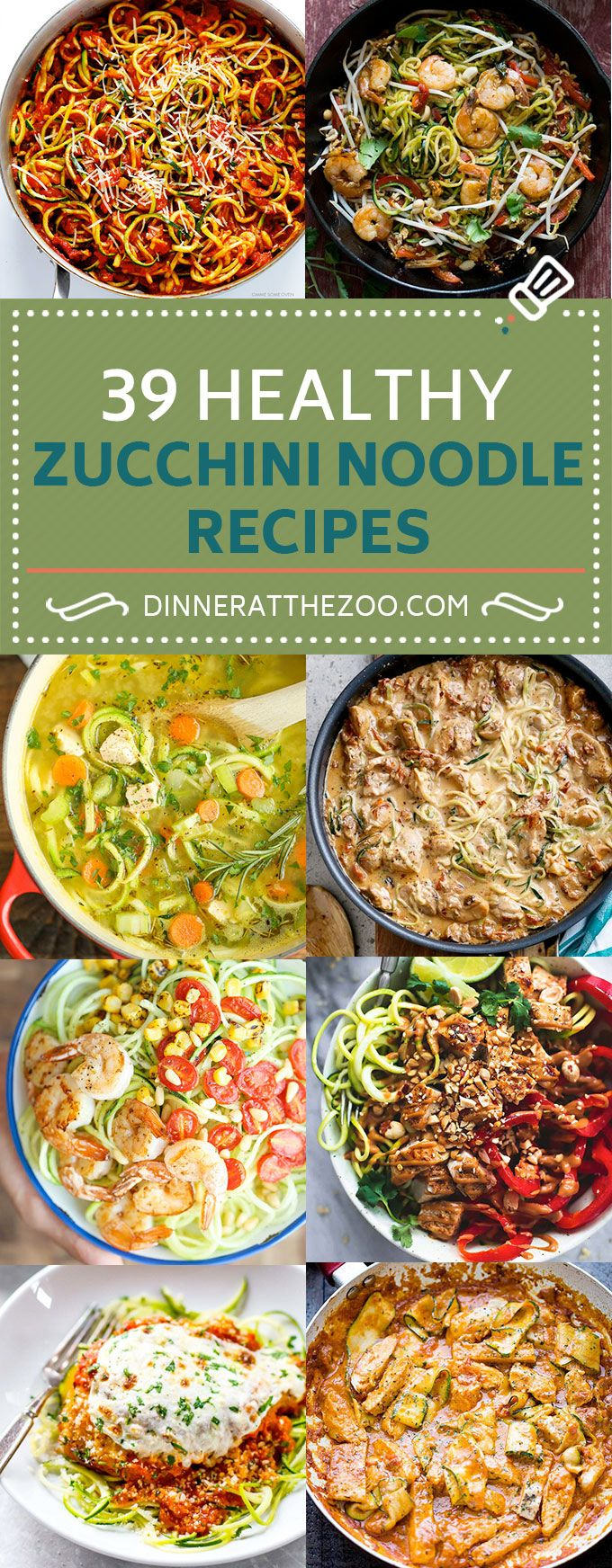 39 Healthy Zucchini Noodle Recipes Zoodles Dinner At The