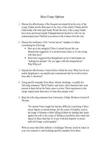 maus essay prompts document for teachers maus essay prompts document for teachers