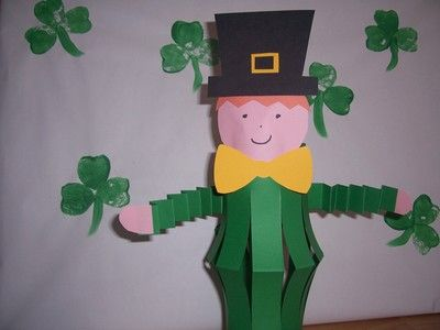 st patrick day craft ideas paper lantern leprechaun crafts all occasion 7187