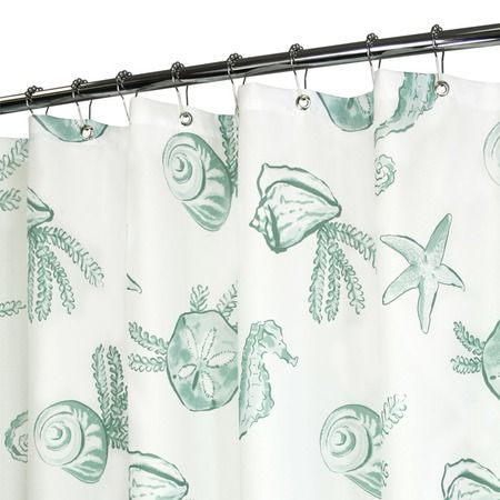 I Pinned This Sea Life Shower Curtain In White And Aqua From The