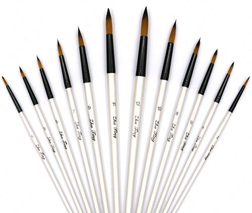Useful Paint Brush Set for Oil Watercolor Artist Painting Art Craft F