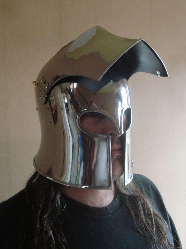 visored barbuta helmet - Google Search | Knight - I Will Fear No