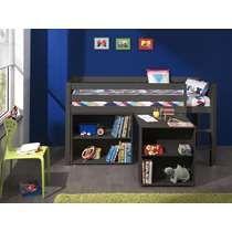 Vipack halfhoogslaper Pino met bureau en boekenkast - taupe | kamer ...