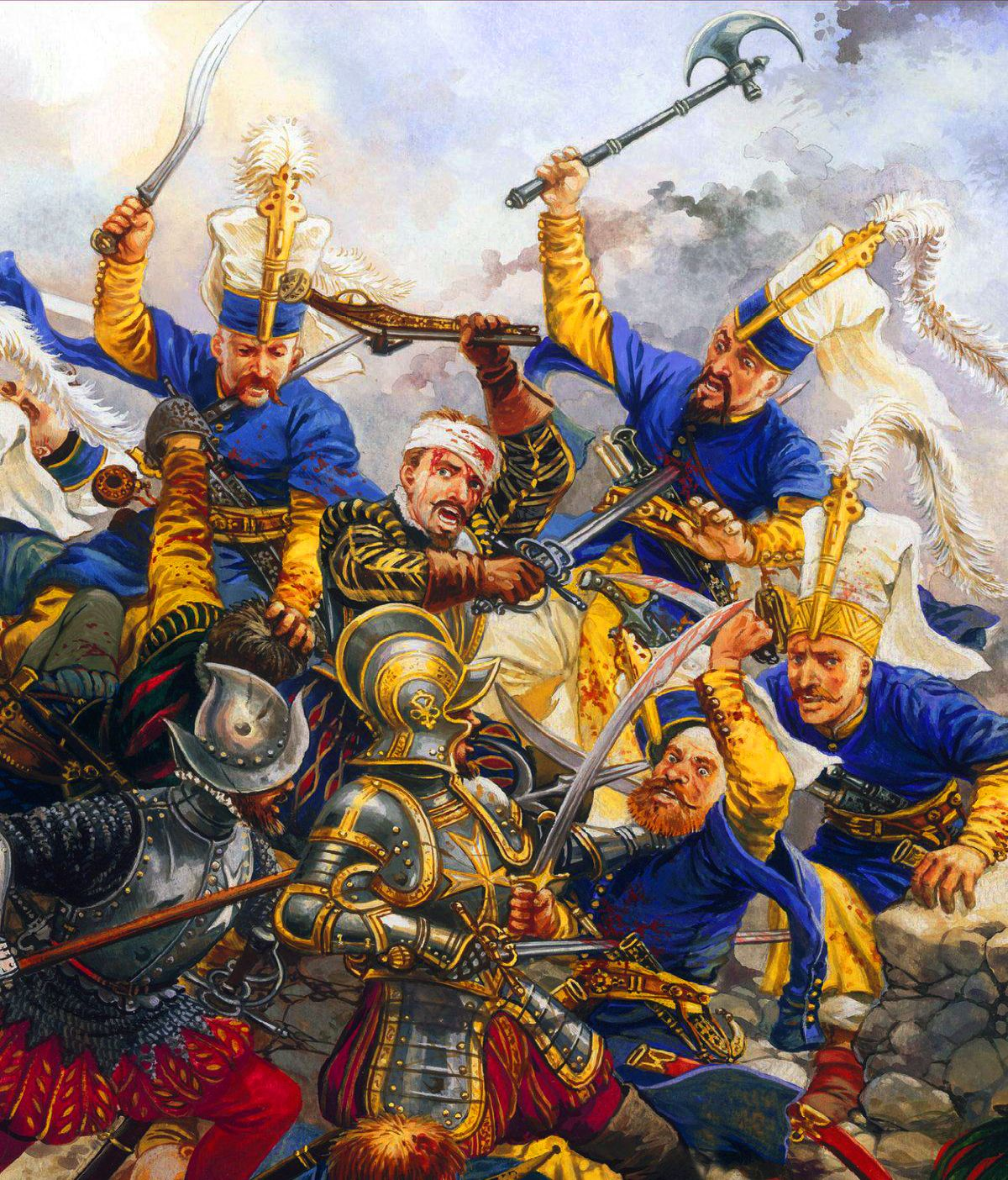 Ottoman Janissaries charging against the Knights of St ...Ottoman Empire Janissaries
