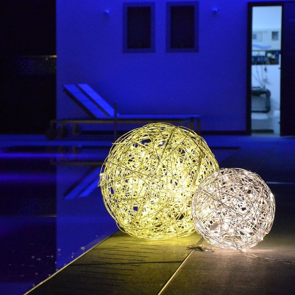 s.LUCE Aussen Dekoleuchte »Mesh L LED Drahtkugel Ø 50cm« in