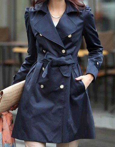 Navy Trench Womens Save, Navy Trench Coat Ladies