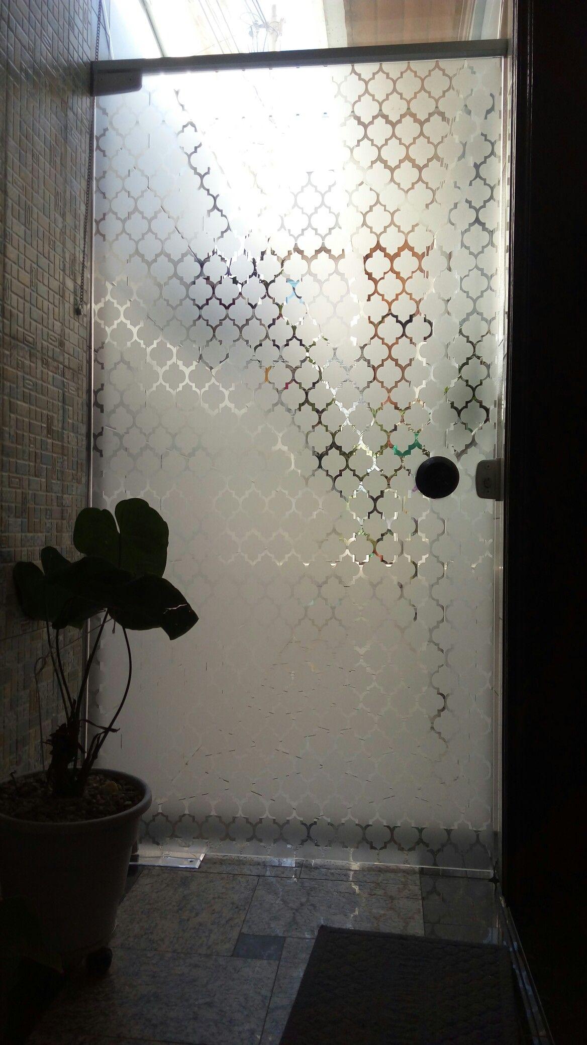 Porta de vidro - jateado decorativo