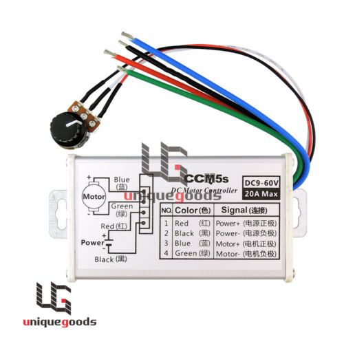 new 12v 24v 20a max pwm dc motor stepless variable speed controller