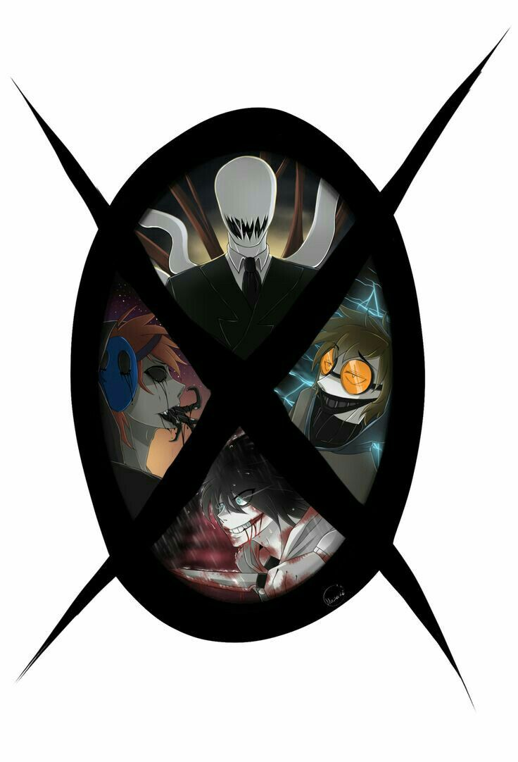 Slenderman, Eyeless Jack, Jeff the Killer, Ticci Toby, Proxy, symbol