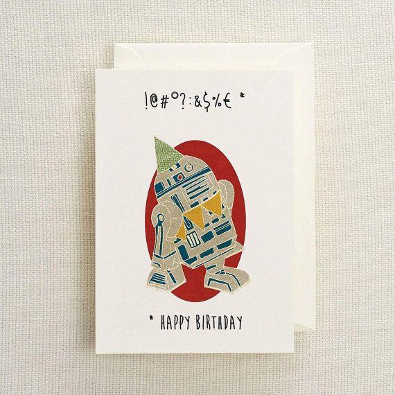 R2d2 birthday card d etsy and cards r2d2 birthday card bookmarktalkfo Choice Image