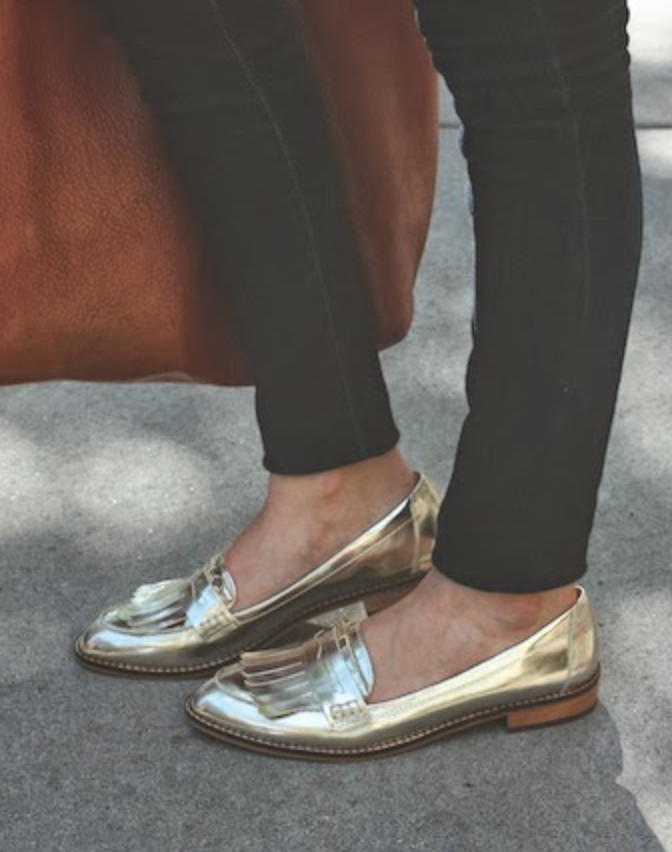 9e2256c447c Metallic loafers