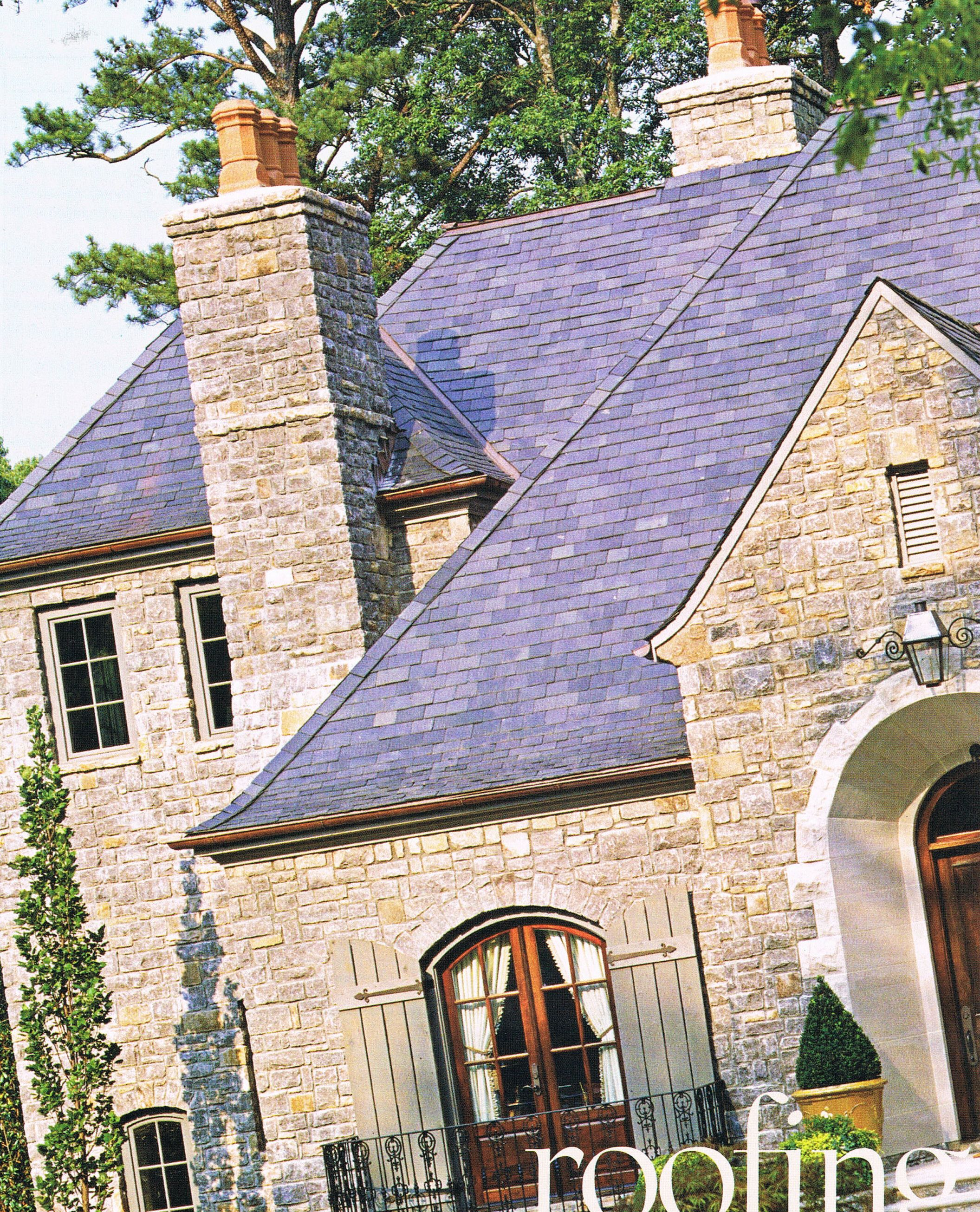 French Country Style Home Exterior: French Stone (Simply Perfect Exteriors)