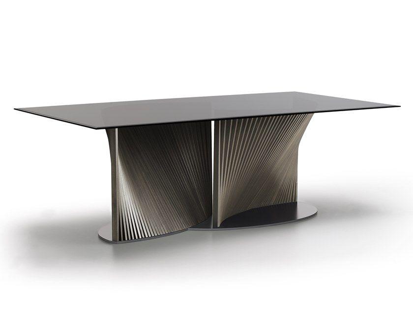 Rectangular Glass Table Petal By Natisa Furniture Dining Table