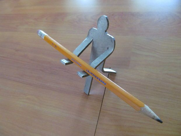 Metal man pencil holder pencil holder welding projects Cool pencil holder ideas
