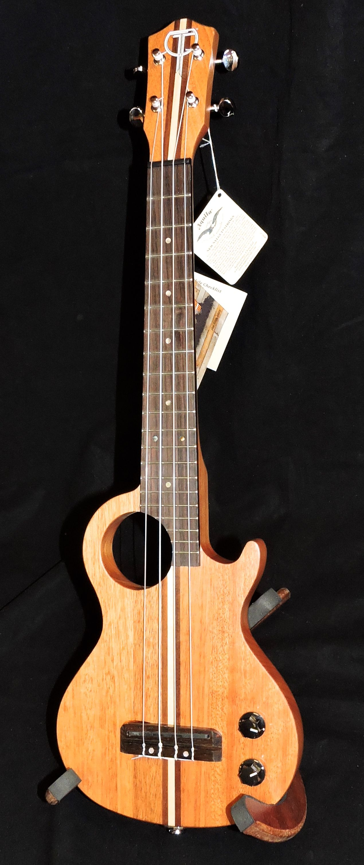 296 teton steu101t tenor solid body electric ukulele w mp3 headset input gig bag music. Black Bedroom Furniture Sets. Home Design Ideas