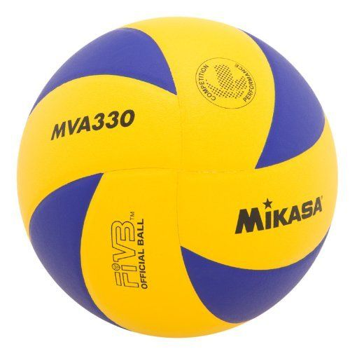 Mikasa Mva330 Spiral Club Volleyball Blue Yellow By Mikasa 32 51 Designed For High Quality Indoor Competition Performance T Mikasa Volleyball Indoor Club
