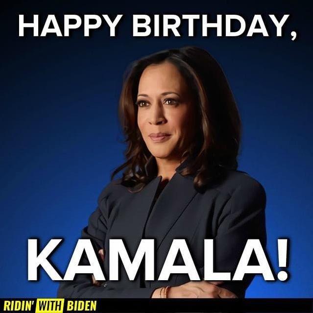 Occupy Democrats Occupydemocrats Added A Photo To Their Instagram Account Happy Birthday Kamalaharris Weak Men Strong Women Presidents