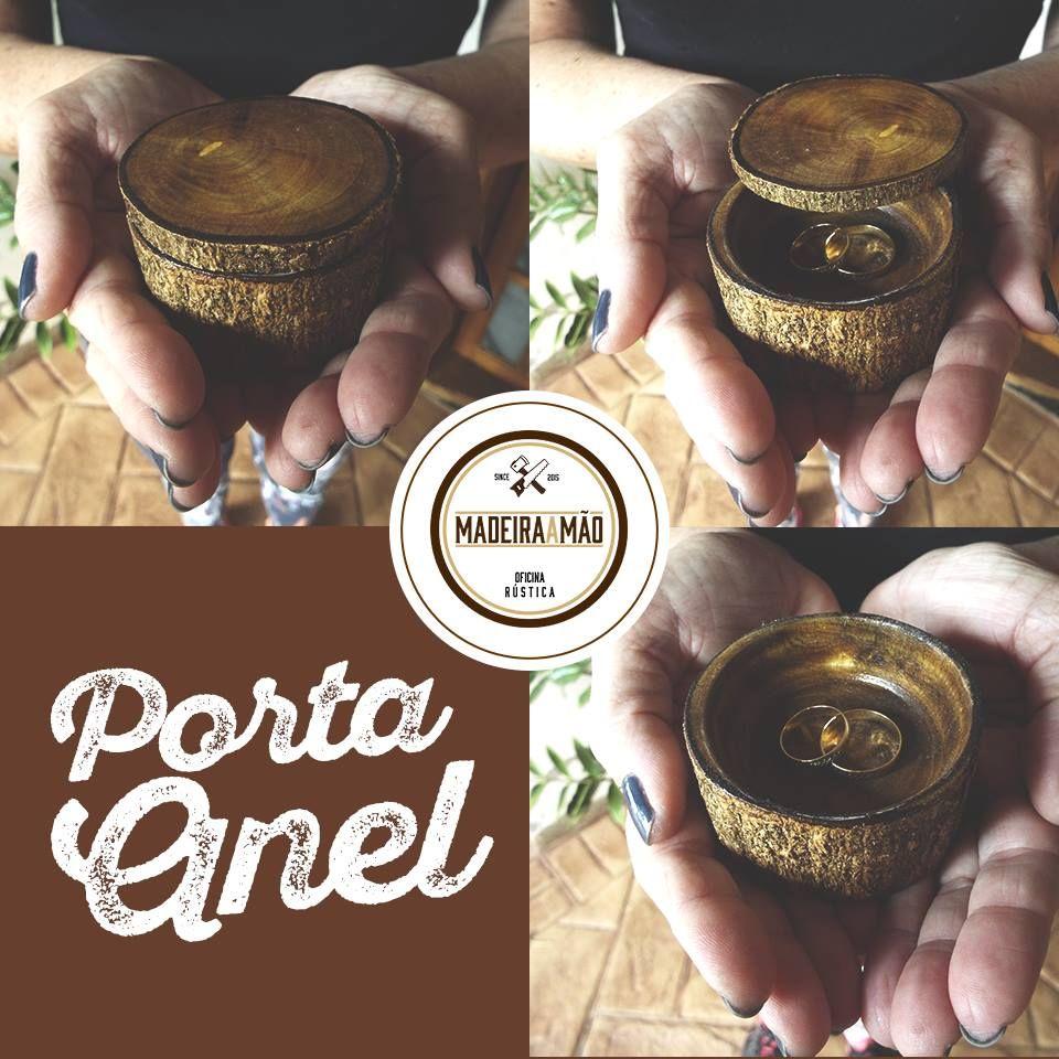Porta anel <3 Peça rústica, porém super delicada para você guardar e organizar seus anéis ou alianças.