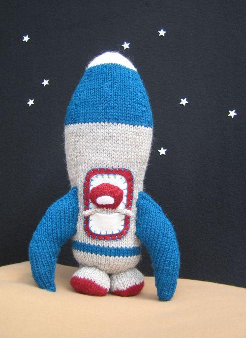 Free Knitting Pattern Toys Dolls Stuff Animals Rocket Ship