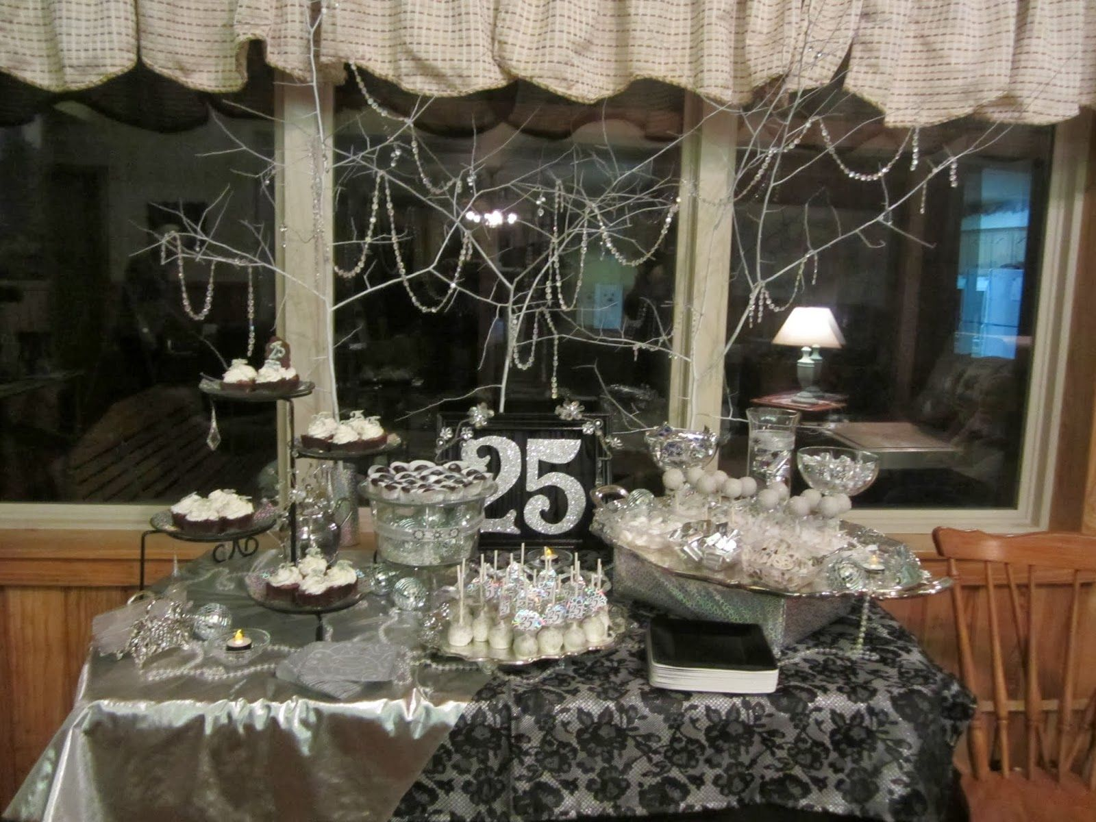 Life 39 s simplicity the silver quarter 25th birthday for 25th birthday party decoration ideas
