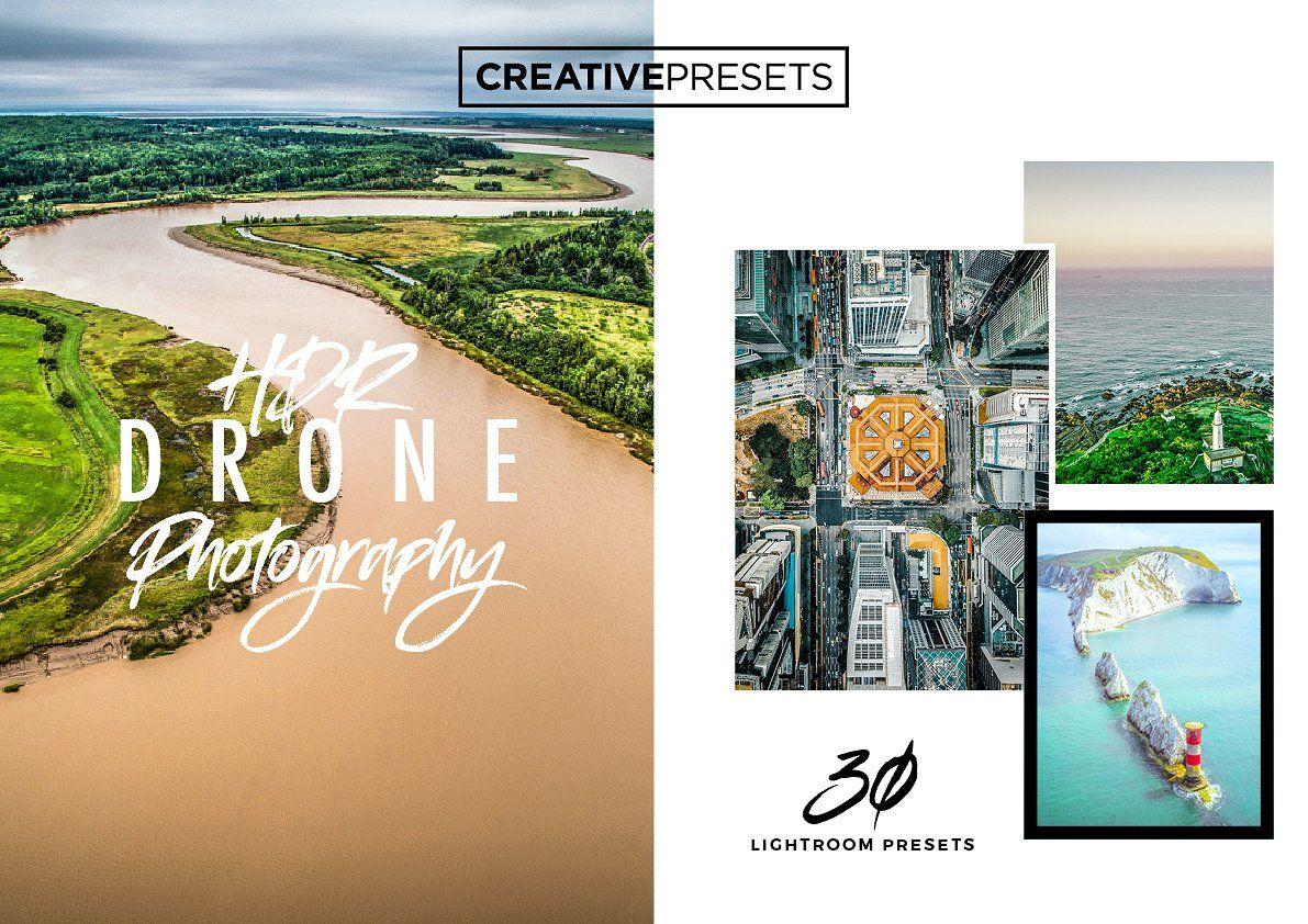 +30 HDR Drone Lightroom Presets Lightroom presets