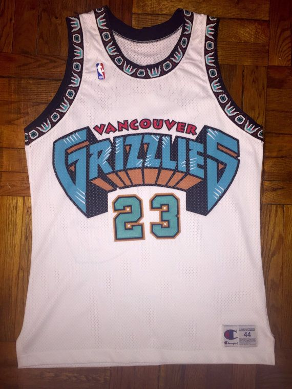 047ae04dc49 Vintage 90s Vancouver Grizzlies Prototype Sample by WestEndAM ...