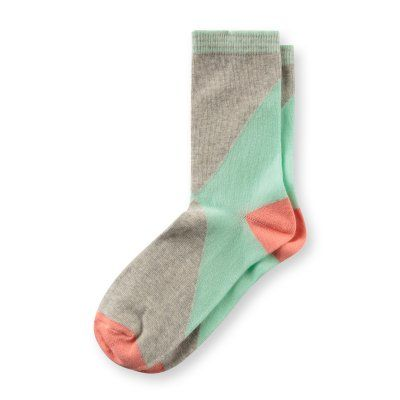 Diagonal Colour Block Socks