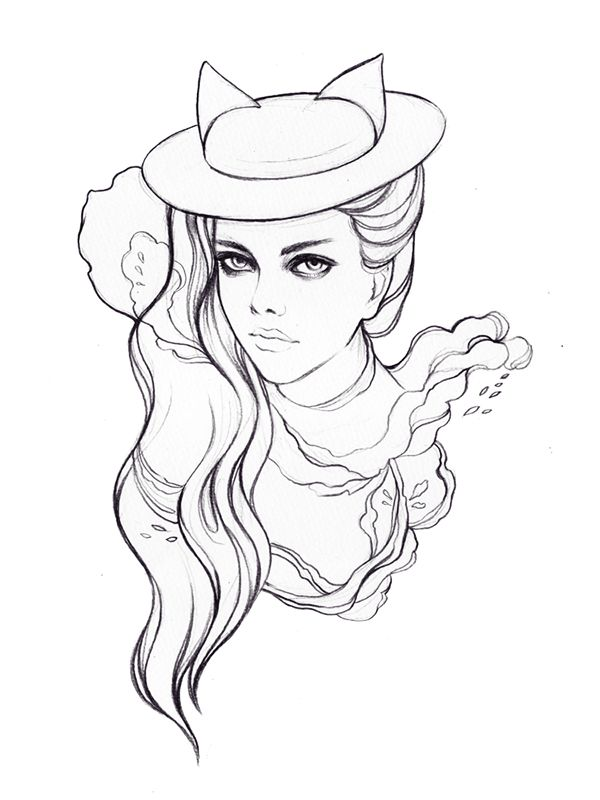 Mich Dulce Coloring Book On Behance Coloring Books Illustration Sketches