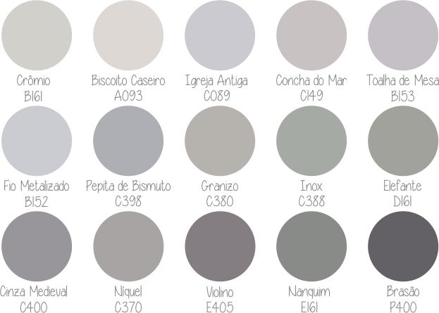 50 tons de cinza para ajudar voc a escolher o seu for Paleta de grises para paredes