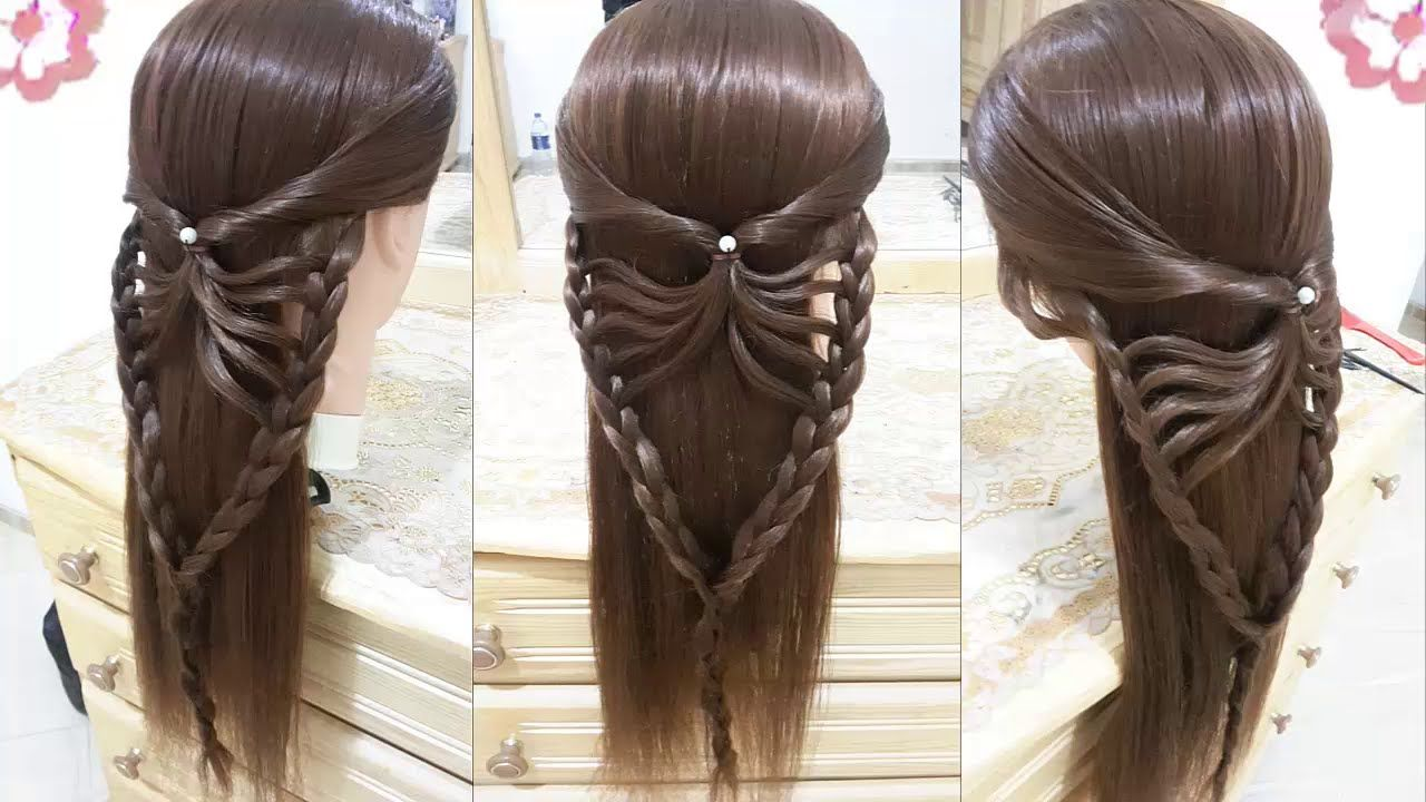 Peinados faciles bonitos y rapidos con trenzas para ni a - Peinados nina pelo largo ...