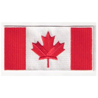 Canadian National Country Flag Iron// Sew-on Embroidered Patch// Badge//Logo