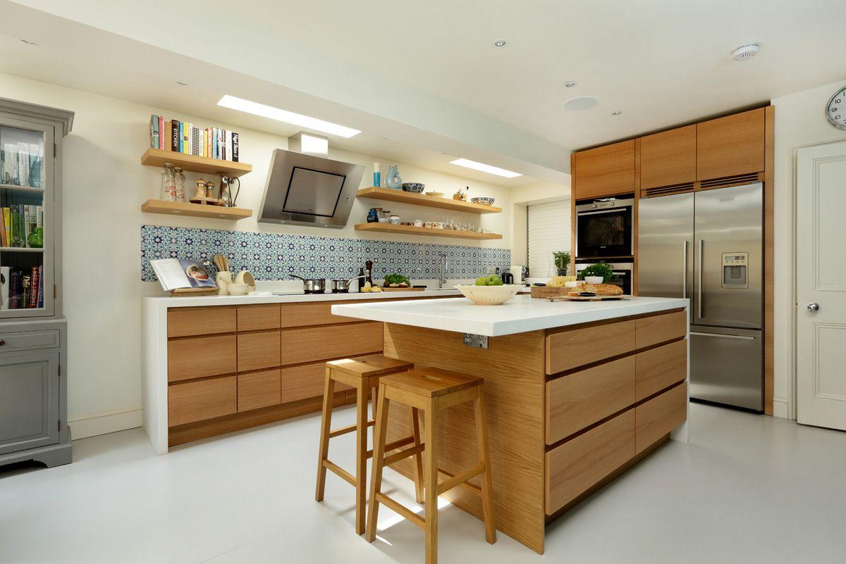 Sletten in oak | Modern oak kitchen, Modern wooden kitchen ...