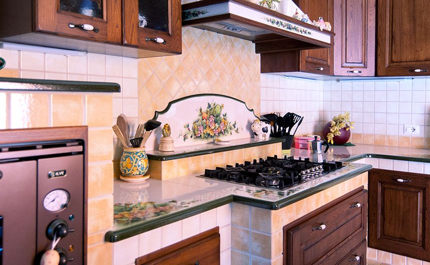 Piano Cottura Per Cucina In Muratura.Cucina Con Piano Cottura Avanzato Cucina In Muratura Cucine Decorazione Cucina