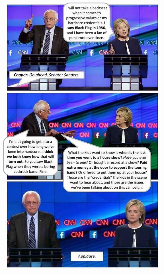 Bernie And Hillary Debate The Punk Scene Punk Scene Punk Rock Hillarious