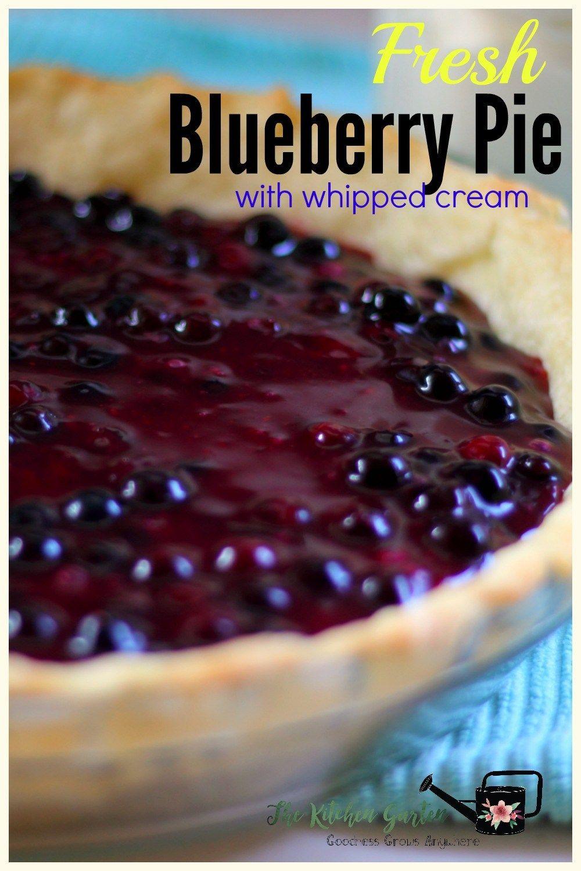 Fresh blueberry pie or peach or strawberry recipe