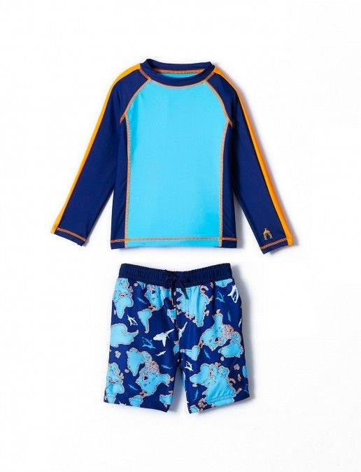 78d728e0a9 Big Boys Shark Camo Rashguard Set, $58.00 Cabana Life 50+ UPV Sun  Protective Clothing