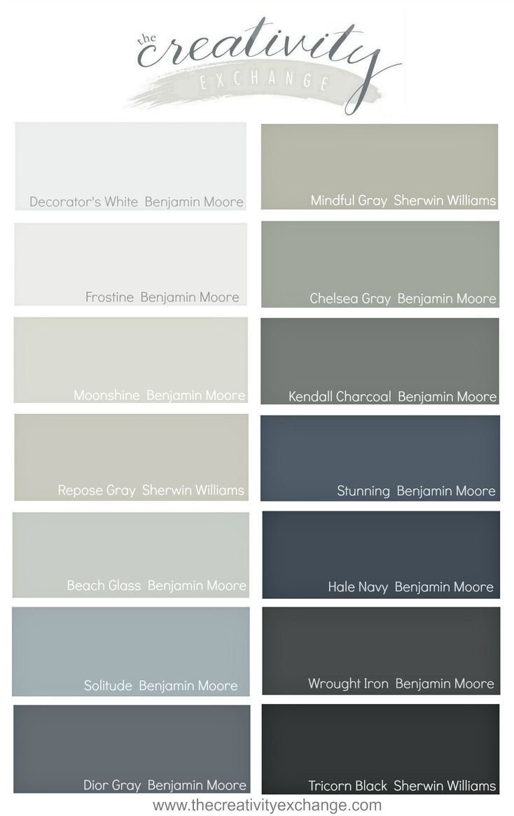Gray interior paint color schemes - All Star Paint Colors That Consistently Work Well In A Variety Of Lighting Situations The