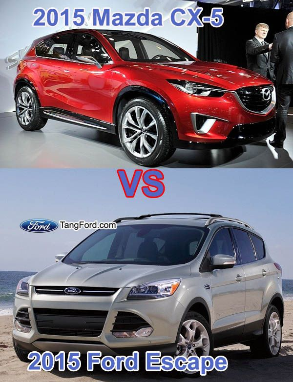 2015 Ford Escape Vs 2015 Mazda Cx 5 Ford Escape Mazda Ford