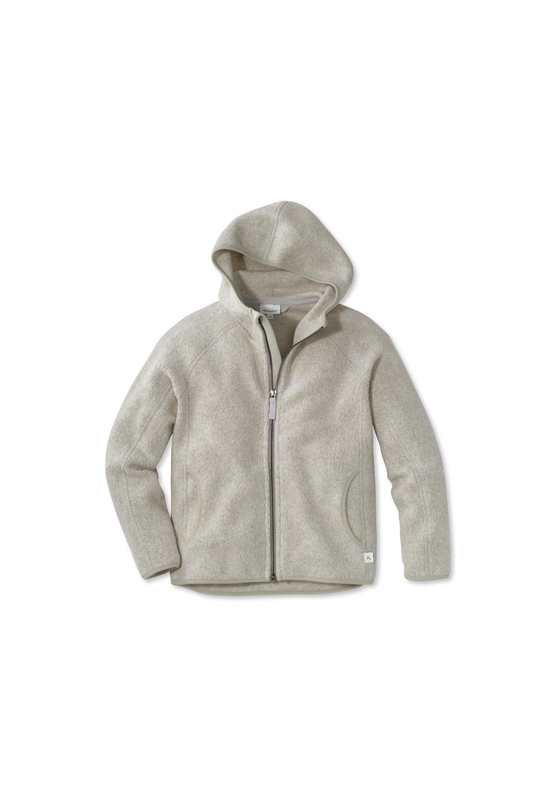 Fleece Jacke aus reiner Bio Baumwolle von hessnatur