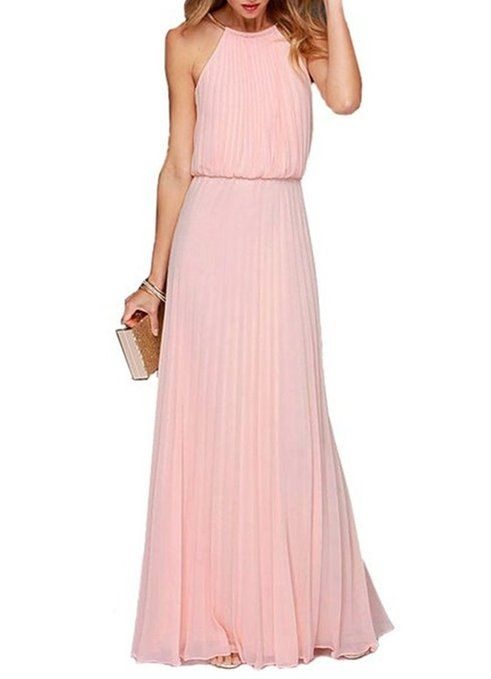 ERGEOB® Damen Sommer Kleid Elegante Cocktail Party Kleider Maxi ...