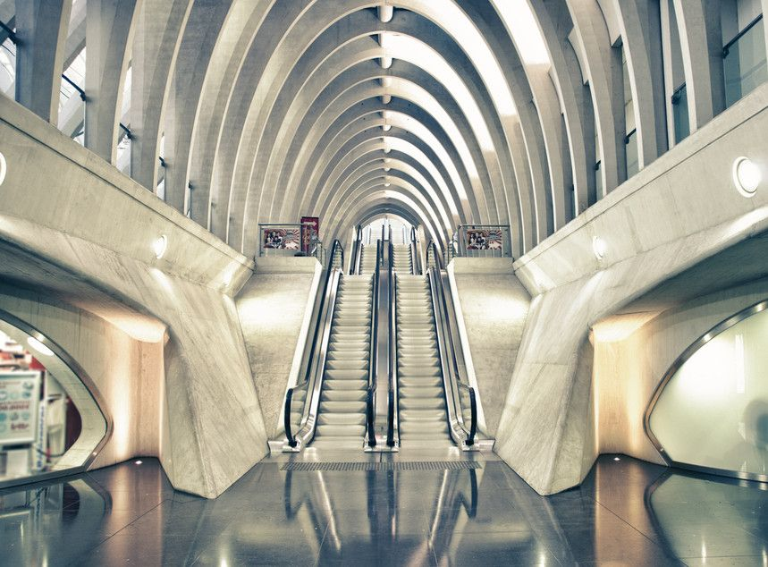 Train station in Liège, Belgium by sushidesigns.ch