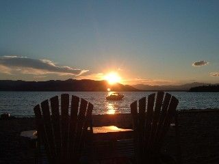 Relaxing Sunsets On Our Private Beach Ossipee Lake Cottage