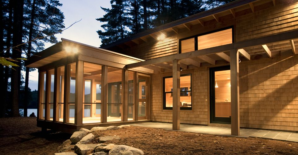 Cottage Modern Stephen Blatt Architects Portland Maine Residential Designs