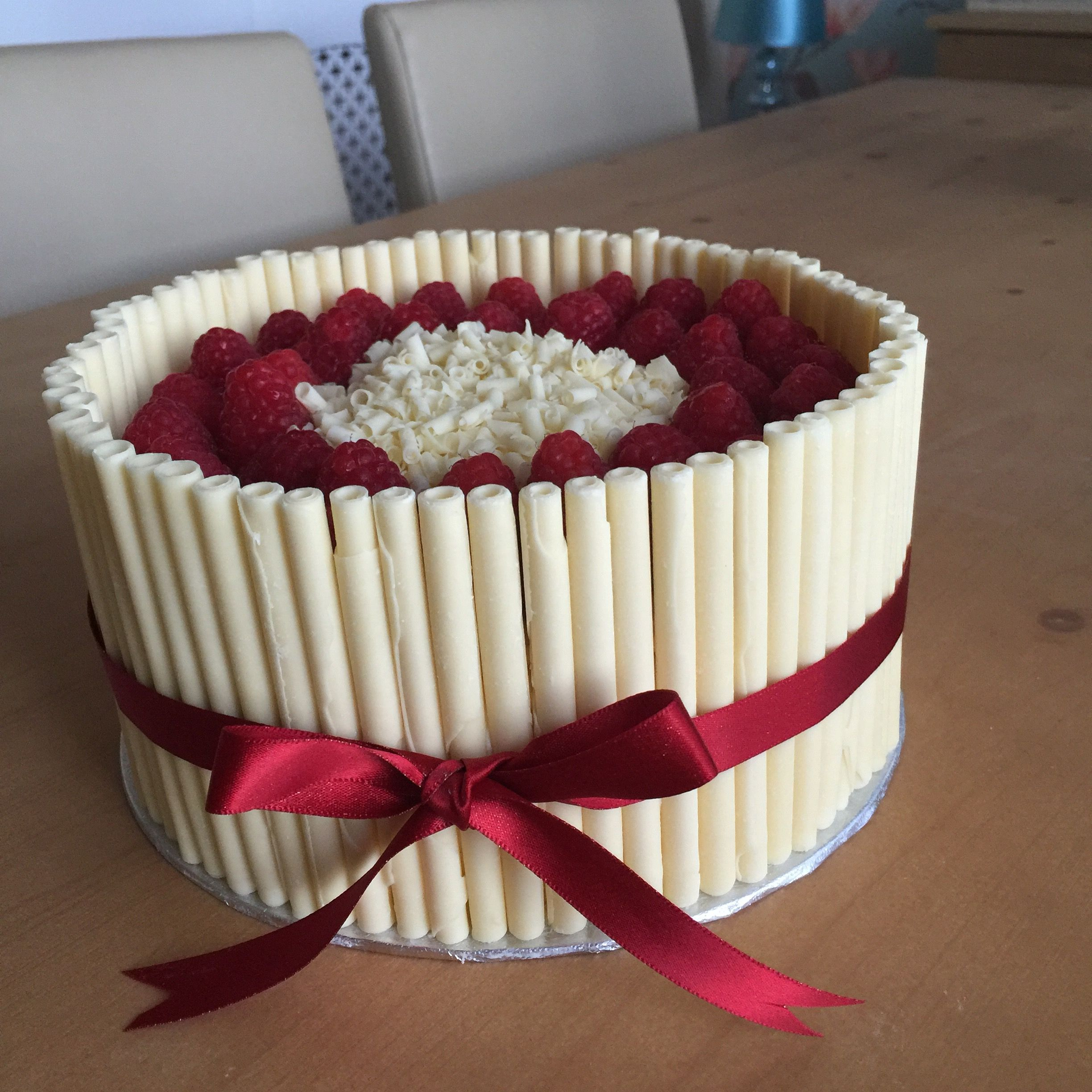 White chocolate and raspberry birthday cake Chic and Delicious