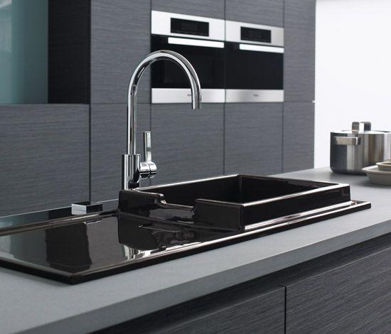 lavello da incasso #cucina in #ceramica #Duravit #StarkK #nero www ...