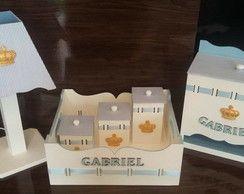 Kit Higiene Bebê - Coroa/Príncipe