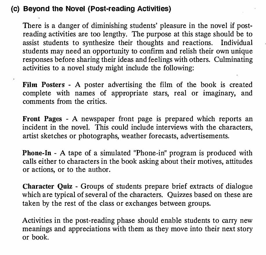 My Name Is Paula Popowich Page 11 Post Reading Activities Reading Activities Novel Studies